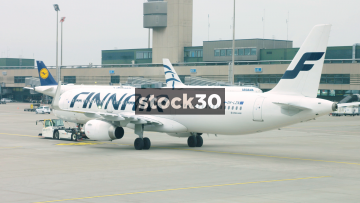Finnair Passenger Plane At Zürich Airport, Switzerland