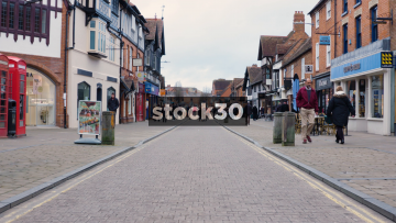 A View Down Henley Street In Stratford-Upon-Avon, UK