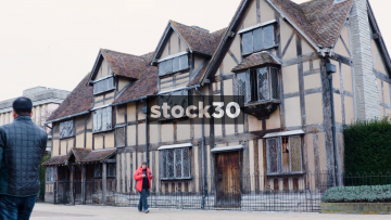 Shakespeare's Birthplace In Stratford-Upon-Avon, UK