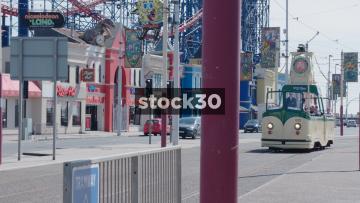 Blackpool Duchess Of Cornwall Vintage Tram Passing, UK