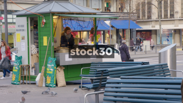 Horse Chestnut Stall In Zürich, Switzerland