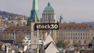 Fraumünster Church And Rooftops In Zürich, Switzerland