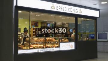 Brezelkönig Pretzel Shop In Hauptbahnhof Railway Station, Zürich, Switzerland