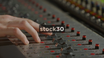 Close Up Shots Of Neve VR Legend Analog Console Being Operated In Recording Studio