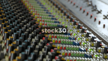 Several Close Up Shots Of Neve VR Legend Analog Mixing Console Being Operated In Recording Studio