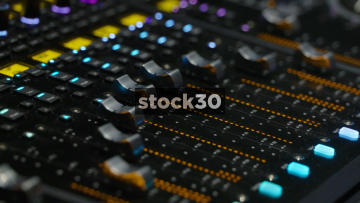 Avid S6 Control Surface Close Ups, Faders And Meter Bridge
