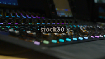 Automated Faders On Avid S6 Control Surface In Recording Studio