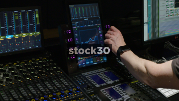 Hands Adjusting EQ On Master Module Of Avid S6 Control Surface