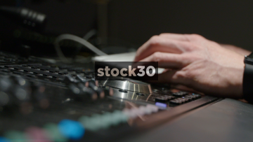 Close Up Shots Of Avid S6 Control Surface Including Jog Wheel And Meter Bridge