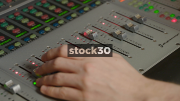 Mixing With Avid ICON D Control Surface In Recording Studio