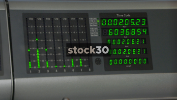 SMPTE Timecode And Level Meters On Avid ICON D Control Surface