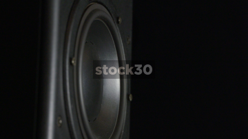 Close Up Of Loudspeaker Drive Unit Vibrating