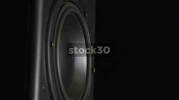 Close Up Of Loudspeaker Drive Unit Vibrating