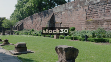 Chester Roman Gardens And Wall, UK
