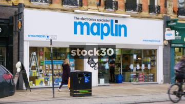 Maplin Electronics On Pinstone Street In Sheffield, UK
