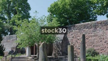 Chester Roman Gardens Pillar Ruins, UK