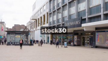 Debenham Department Store And Caffe Nero In The Moor Quarter, Sheffield, UK