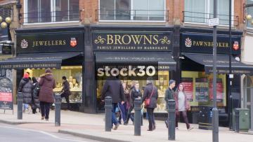 Browns Jewellers On Pinstone Street In Sheffield, UK