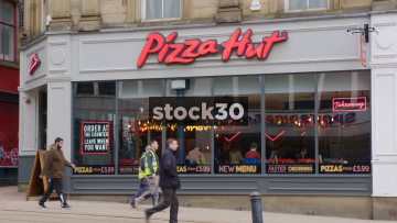 Pizza Hut On High Street In Sheffield, UK