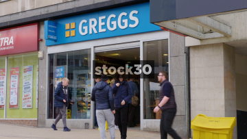 Greggs Bakery In Sheffield, UK