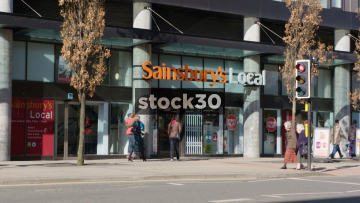 Sainsbury's Local At Arundel Gate In Sheffield, UK