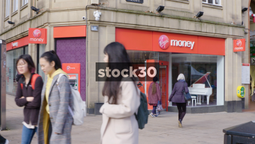 Virgin Money Bank In Sheffield, UK
