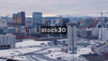 Oslo City With Buildings And Traffic, Norway