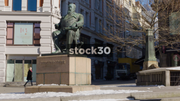 Statue Of Christian Krohg In Oslo, Norway