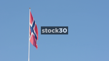 Norweigan Flag Blowing In The Wind, Norway