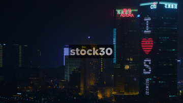 The Aurora Building And The Shangri-La Hotel In Shanghai, China