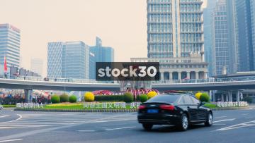 The Mingzhu Roundabout In Shanghai, China