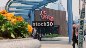The Flagship Disney Store In Shanghai, China