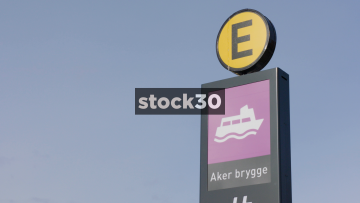 Signage At Aker Brygge In Oslo, Norway