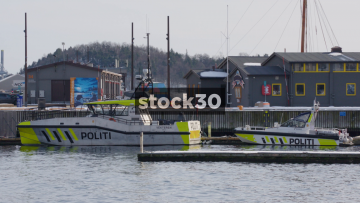 Politi (Police) Boats In Oslo, Norway