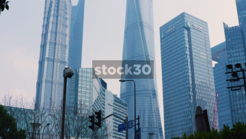 The Shanghai Tower, Shanghai World Financial Centre and Jin Mao Tower, China