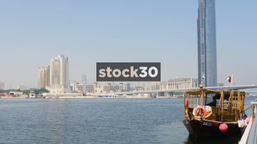 A View Over The Dubai Creek Towards The D1 Tower, UAE