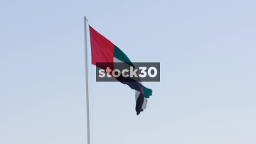 Slow Motion Shot Of The Flag Of The United Arab Emirates