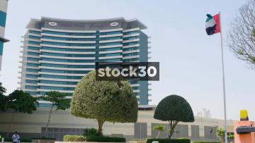 Crowne Plaza Hotel Dubai Festival City And The UAE Flag