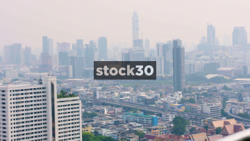 View Of Bangkok Skyscrapers Including The Baiyoke Tower II, Thailand