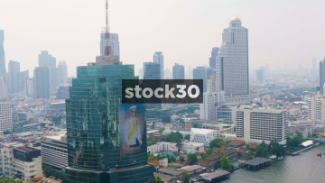 The CAT Telecom Building And The Lebua Hotel Building In Bangkok, Thailand