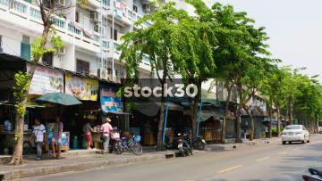A Noodle Shop On Phaya Mai Road In Bangkok, Thailand
