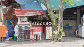 A Drinks Vendor On Phaya Mai Road In Bangkok, Thailand