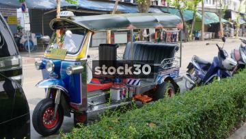 A Tuk Tuk Taxi In Bangkok, Thailand