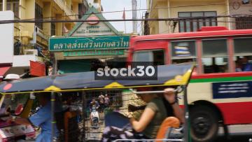 The ICP Flower Market On Chakkraphet Road In Bangkok, Thailand