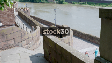 Chester City Walls And River Dee, UK