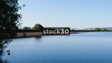 Panning Shot Of Arnfield Reservoir In Longendale, North Derbyshire, UK