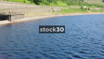 Quick Panning Shot Of Woodhead Reservoir In Longendale, North Derbyshire, UK