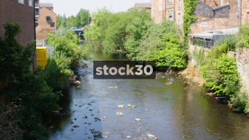 River Tame In Stalybridge, UK