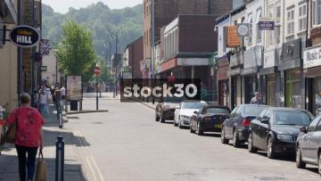 Melbourne Street In Stalybridge, UK
