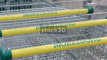 Morrisons Supermarket Trolleys, 3 Shots, UK